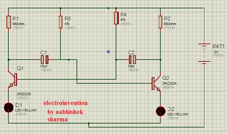 led flasher circuits