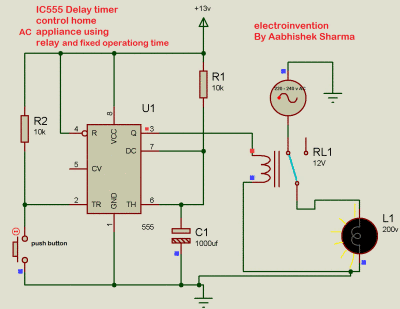 IC 555 delay timer