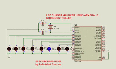 led chaser using microcontroller