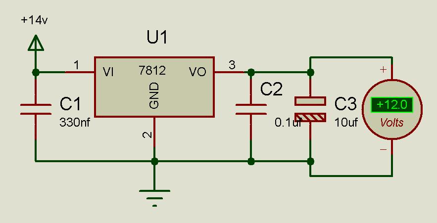 lm7812 voltage regulator