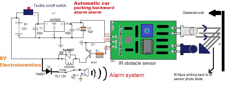 automatic car parking alarm