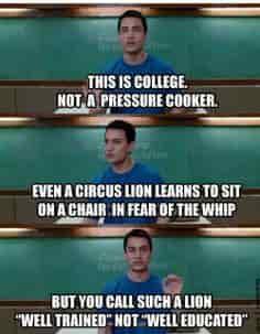 GREAT EDUCATION SYSTEM 3 idiots scene
