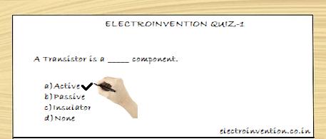Electronics Quizzes - Electronics MCQ